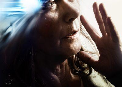 Migräne Anfall, visualisierte Kopfschmerzen
